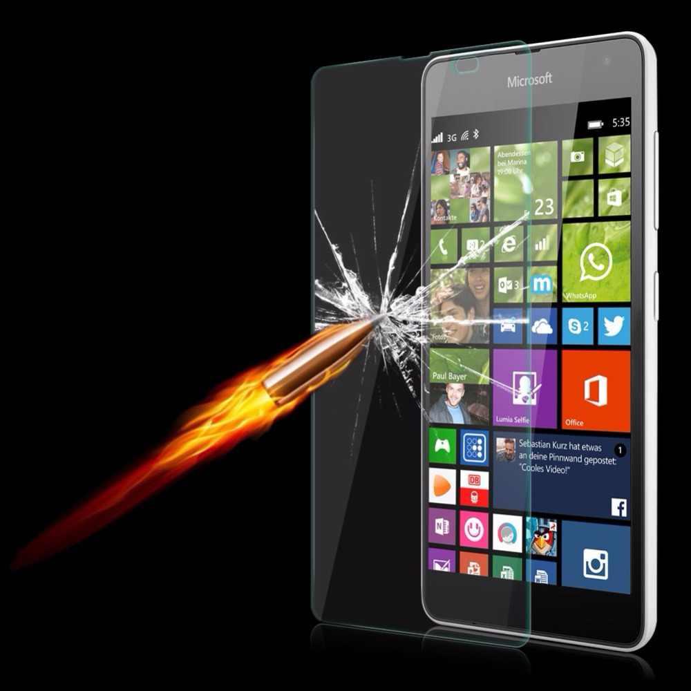 9 h 強化ガラスノキアマイクロソフト lumia 430 435 532 535 630 640 930 xl 540 × 950 650 550 スクリーンプロテクターフィルム