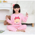 Autumn kids pajamas children's long sleeved clothes pants boys thick air-conditioning cartoon home wear girl lovely sleepwear