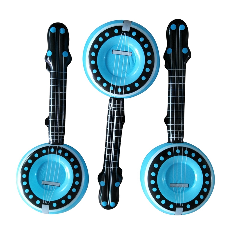 Portable Fun Inflatable Musical Instruments Round Guitar Party Stage Show Props Kids Pool Toy