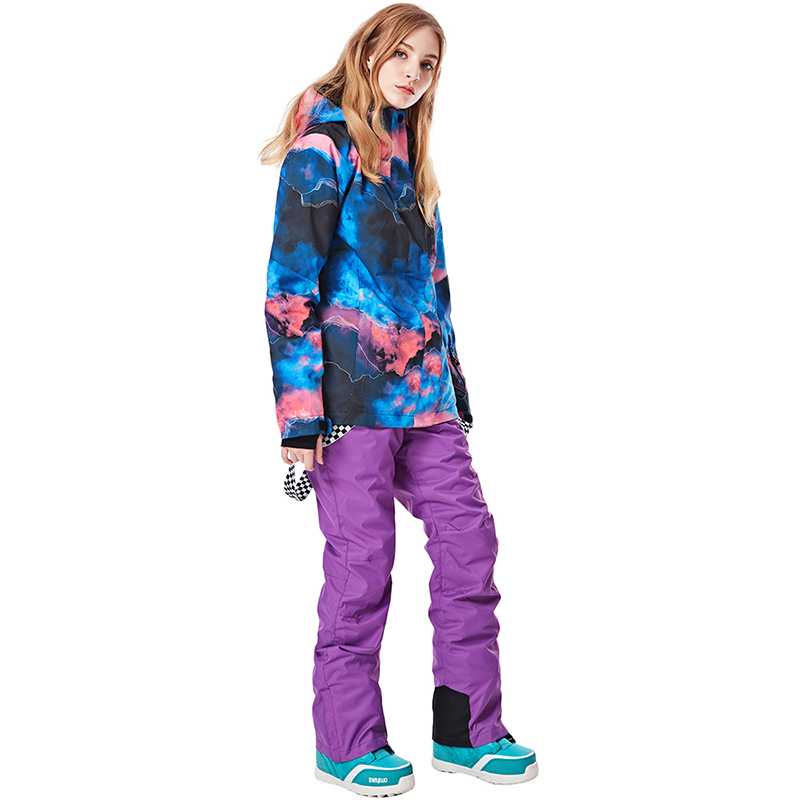 New -30°C Warm Ski Suit Women Waterproof Windproof Skiing And Snowboarding Jacket And Pants Female Snow Costumes Outdoor Wear