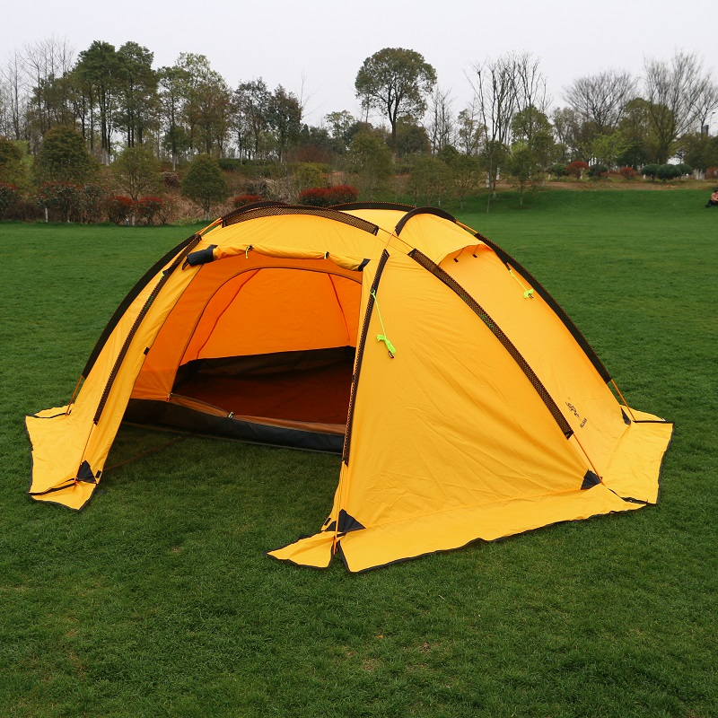 Hillman ball tent multi-person outdoor family camping mountaineering rainproof 4 person double deck