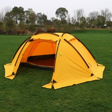 лучшая цена Hillman ball tent multi-person outdoor family camping camping mountaineering rainproof 4 person double deck tent
