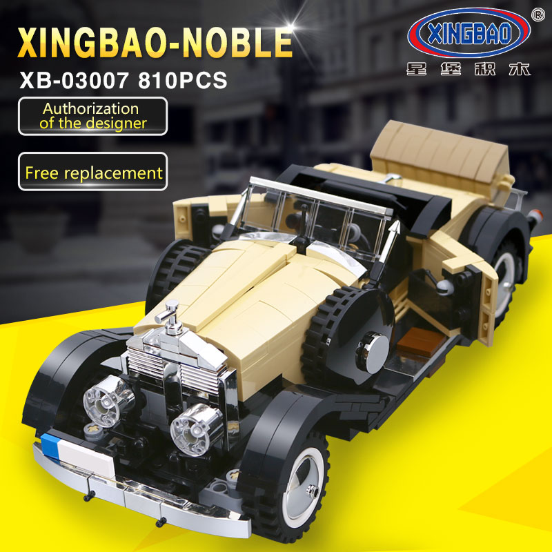 XingBao 03007 Creative MOC Technic Series The Rolls-Royce Noble Set Children Educational Building Blocks Bricks legoing Toy Mode the merchant of venice noble potion парфюмерная вода 100 мл