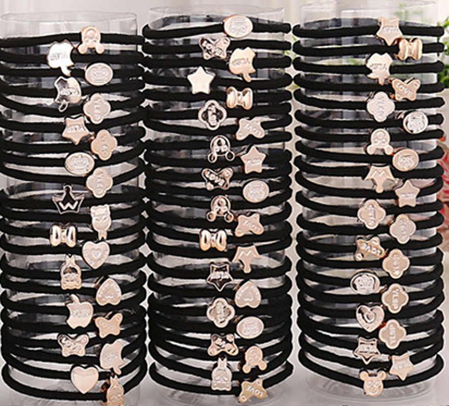Корейский ювелирный головной убор высокоэластичные толстые кожаные тендоны повязка для волос кожаные сухожилия веревка для волос круг оптовая продажа