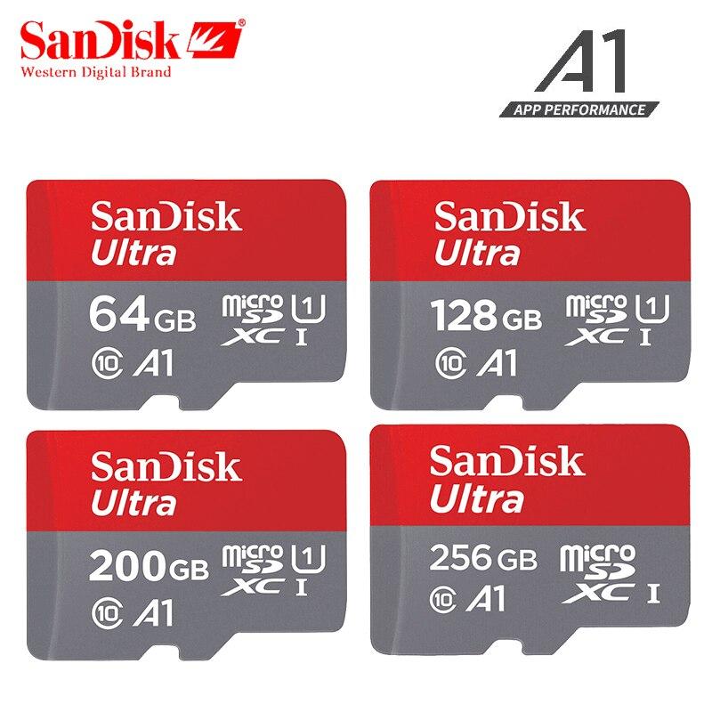 D'origine Sandisk carte micro sd 16 gb 32 gb 64 gb 200 gb cartao de memoria carte micro sd 128 gb classe 10 jusqu'à 90 Mo/S carte mémoire