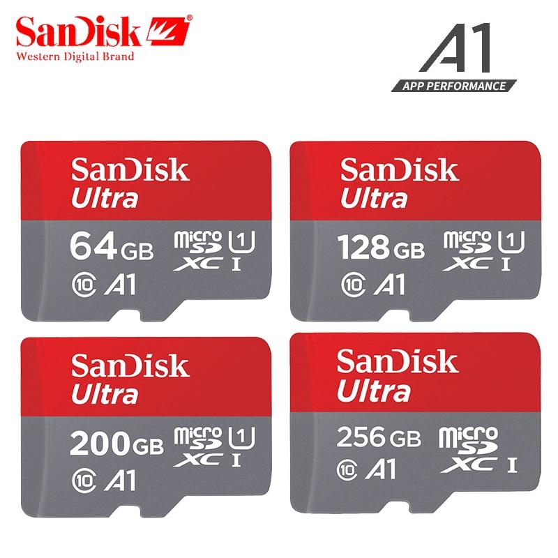 Original Sandisk micro sd card 16gb 32gb 64gb 200gb cartao de memoria carte micro sd 128gb class 10 up to 90MB/s memory card