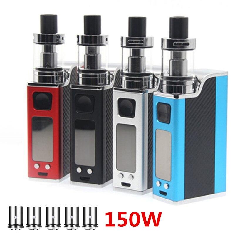 E-XY Upgrade Electronic Cigarette 150W Vape Box Kits Adjustable Wattage Vaper Pen Mods Kit 1500mah LED Light Display Electronic