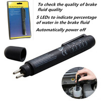 HOT SALE 5 LEDs Mini Indicator Electronic Brake Fluid Liquid Tester Pen For Auto Car Vehicle