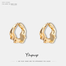 Yhpup Trendy Brand Personality Detachable Variable Style Stud Earrings Zinc Alloy 14 K Charm Jewelry for Women Party Gift 2020