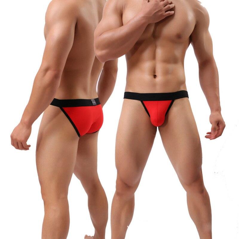 Sexy Cotton Male Underwear Breathable Soft Gay Man Breifs Low Waist Slip Homme Cueca Calzoncillos Solid U Convex Underpants