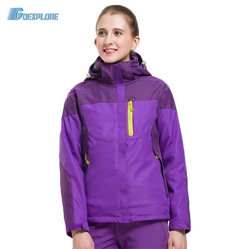 Livraison directe offre spéciale nouvelle conception Double couche veste manteau hiver à capuche neige vêtements d'extérieur hiver veste femmes sport