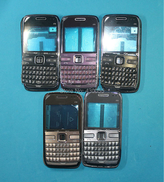 Black/Gold/Grey/Purple New Complete Full Housing Cover Case + Keyboards For Nokia E72 , Free Shipping with tracking#