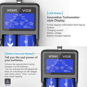 Image 3 - Cargador de batería XTAR 18650 VC2 VC4, Cargador USB con LCD/QC3.0, carga rápida VC4S SC2 / VC2S PB2S, cargador de batería 18650