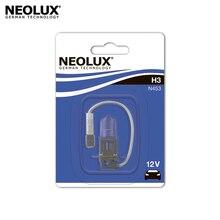Галогеновая лампа головного света Neolux N453-01B H3 цвет стандартный желтоватый 12В 55Вт 3200K (1 шт)