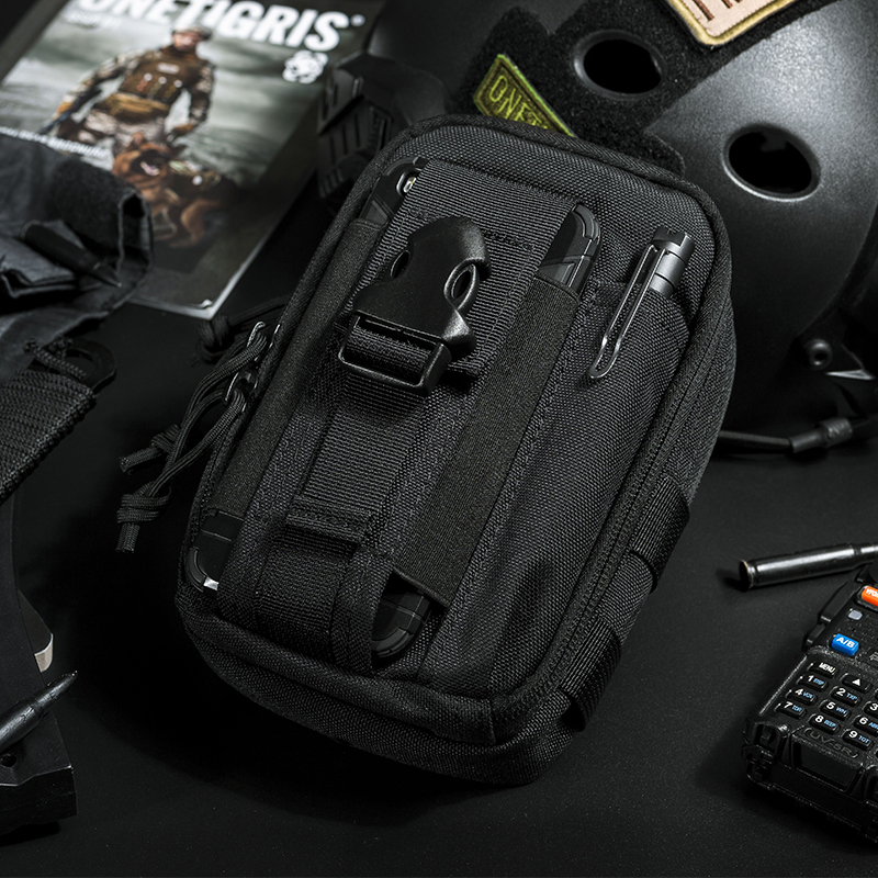 OneTigris Tactical MOLLE Bag Original EDC Pouch Utility Gadget Steel Sparrow Pouch Portable Daily Use Waist Bag Pocket Organizer airsoft tactical bag 600d nylon edc bag military molle small utility pouch waterproof magazine outdoor hunting bags waist bag