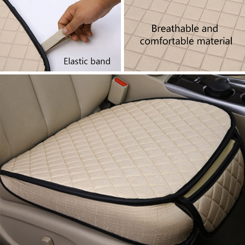 Image 5 - Car Styling Automobiles Seat Cover Breathable Flax Car Seat Covers Set Universal Auto Seats Cushion Pads Protector Accessories-in Automobiles Seat Covers from Automobiles & Motorcycles