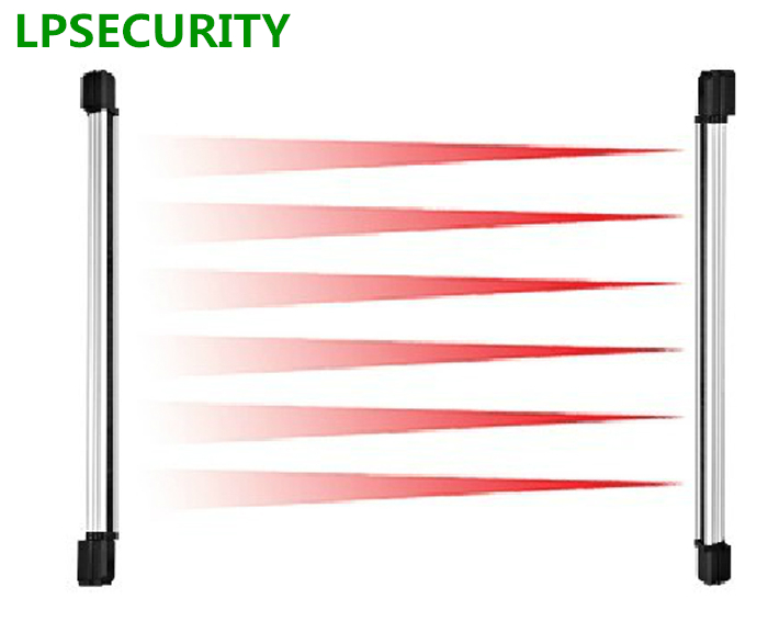 LPSECURITY IR Beam Sensor 76cm Height 100m 4 Beams Alarm Security Wired Active Infrared Barrier Gate Window Detector