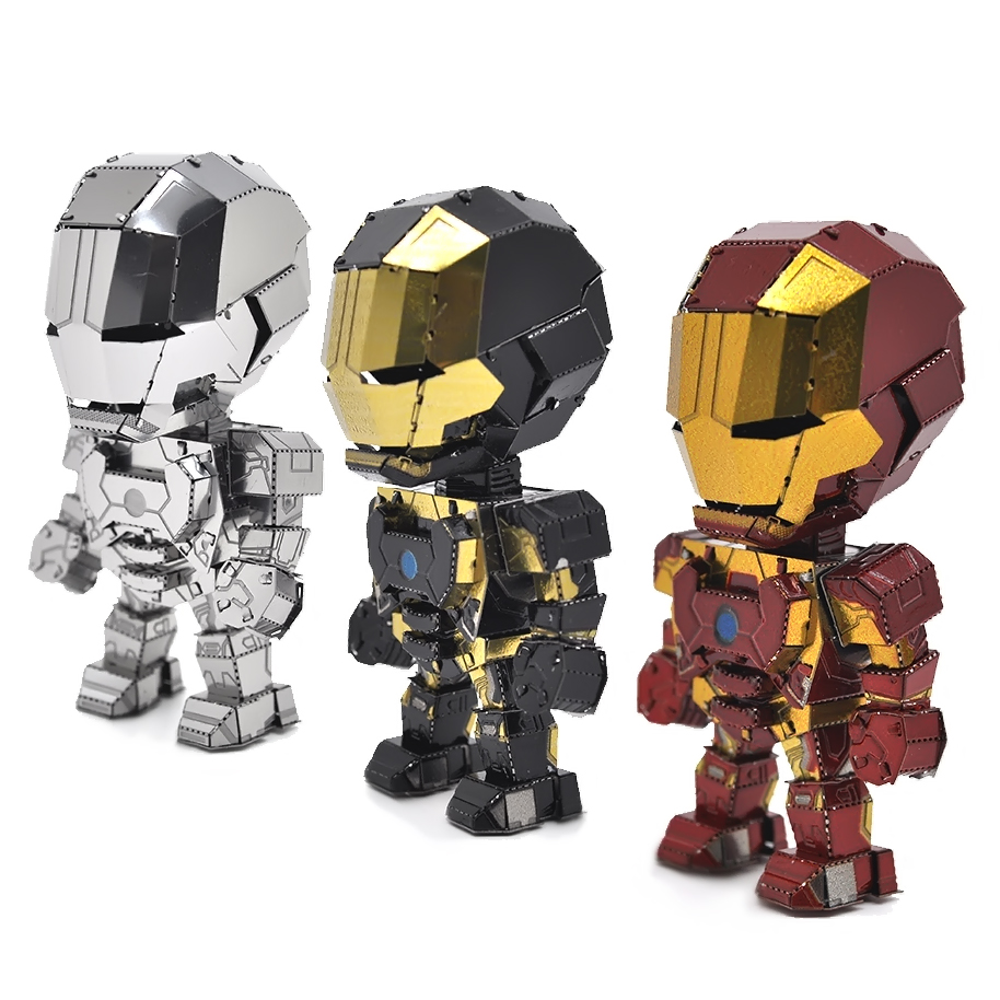 3D Metal Puzzle Model Mini Iron Man Manually Assembling Puzzles Collectional Educational Toys For Adult Children Gifts