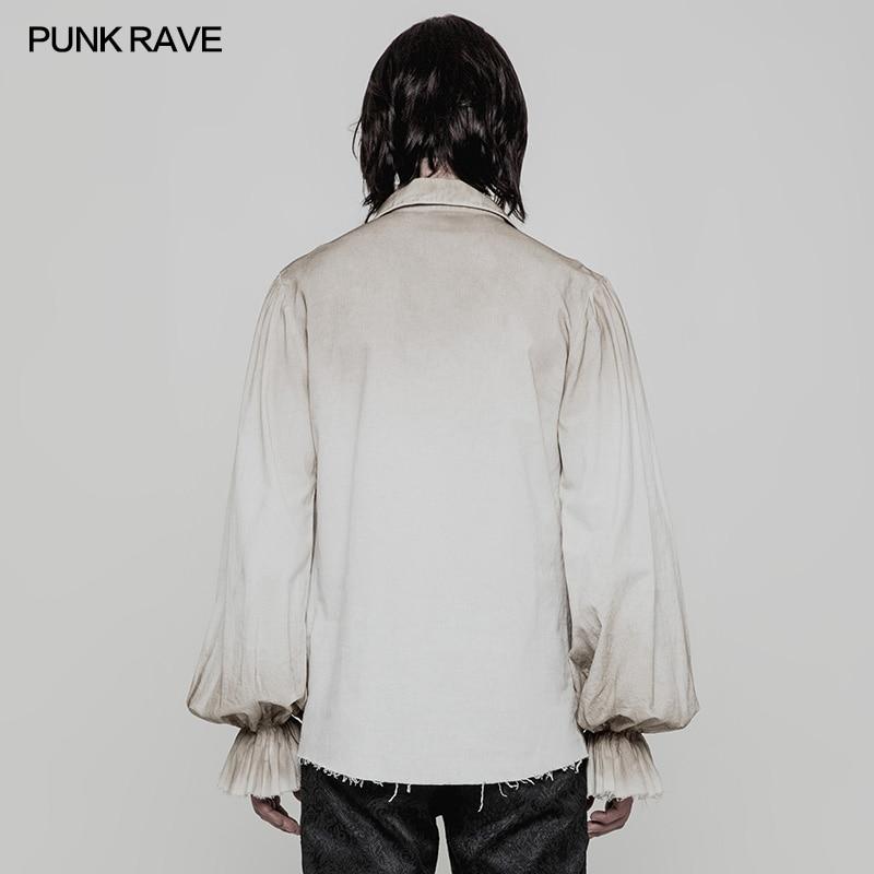 Punk Rave Steampunk Gothic Black Fashion victorian Mens T Shirt Top clothing