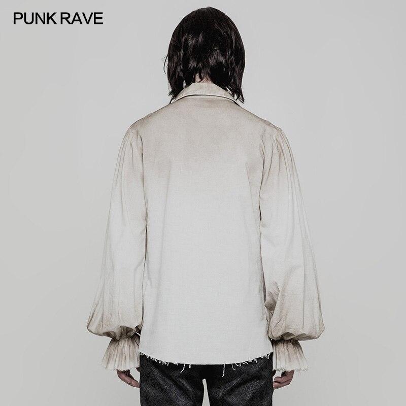 Schwarz Weiß Farben Punk Rave Steampunk Gothic Mode viktorianischen Herren T Shirt Top kleidung WY873-in T-Shirts aus Herrenbekleidung bei  Gruppe 2