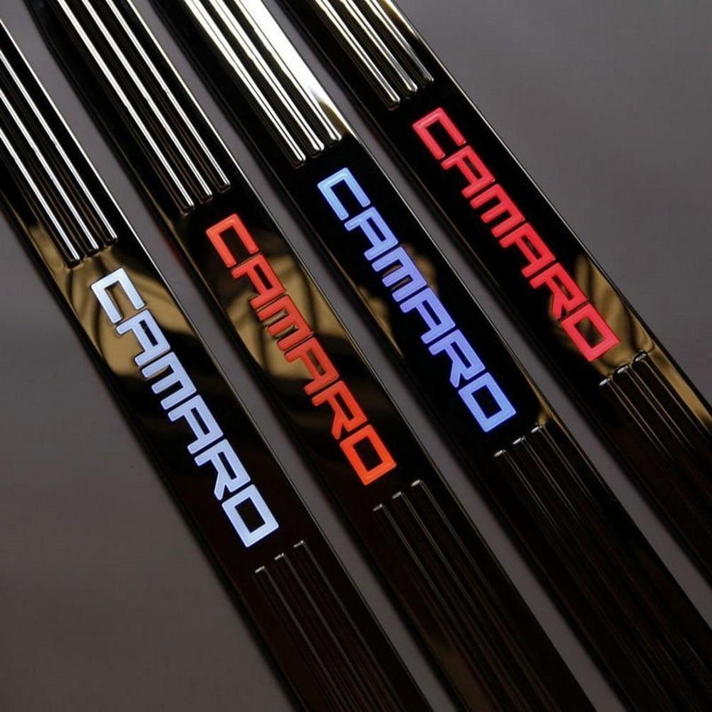 Car Styling per Chevy Chevrolet Camaro accessori 2009-2016 led auto davanzali del portello scuff piatto davanzale del portello illuminato soglie