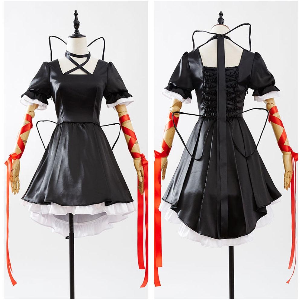 Rewrite Kagari Black Dresse Top  Anime Halloween Party Cosplay Costumes For Women Custom Made