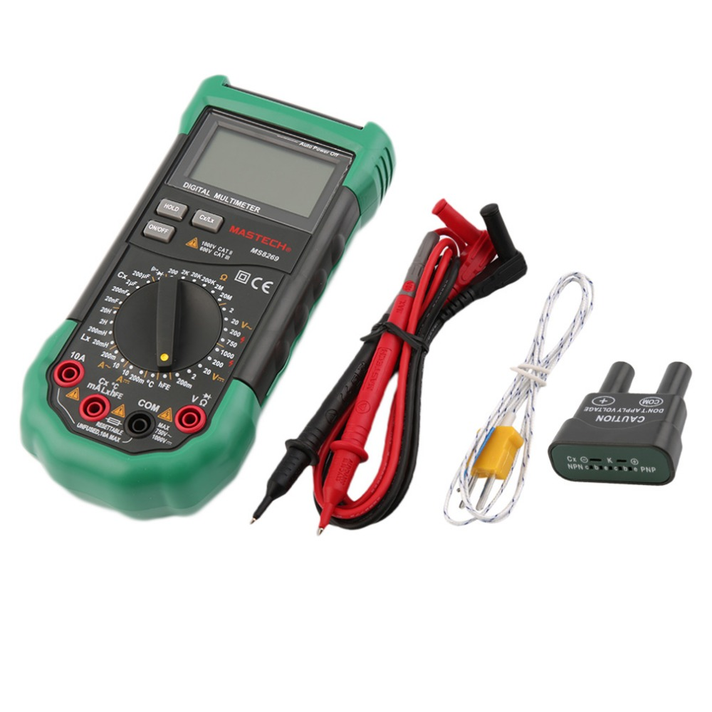 1 pcs MASTECH MS8269 Digital Auto Ranging Multimeter DMM Test Capacitance Frequency Worldwide Store mastech ms8260f 4000 counts auto range megohmmeter dmm frequency capacitor w ncv