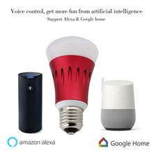 play bulb E27 Wifi bulb google home alexa sound control led lights 7W rgbw led dj lights color smart phone App control
