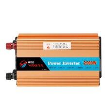 Автомобиль Мощность в V erter 2500 Вт 12 В AC 220 В вольт 2500 Вт Напряжение con V erter адаптер автомобиль Зарядное устройство для автомобиля Батарея ЕС CY808-CN