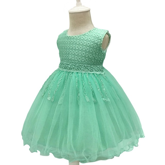 81328e0913b Retail 2018 Cheap 1 Years Old Baby Princess Ball Gown Flower Girl Dresses  Tulle Kids Party Wedding Dresses