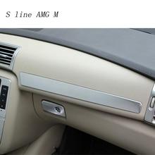 Автомобильный Стайлинг, коробка для хранения копиротов, накладка на приборную панель, наклейки для перчаток, чехол для Mercedes Benz R Class W251 R300 320 350 400, аксессуары