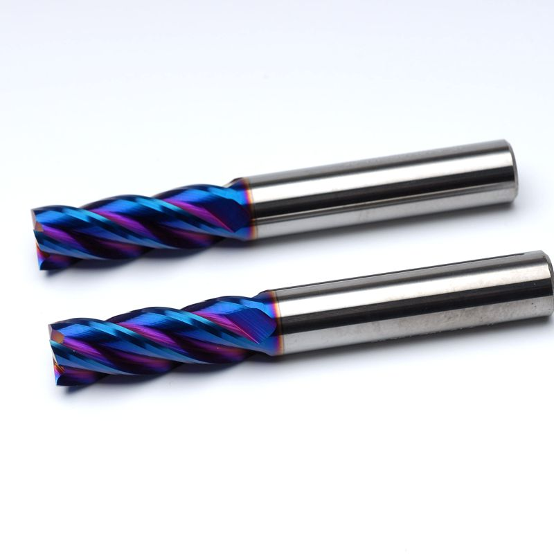 0 5 10mm 16 Sizes Choice HRC65 Four Blade Milling tool Alloy Steel Milling Cutter CNC Machine Steel Cutters Twist Bits in Power Tool Accessories from Tools