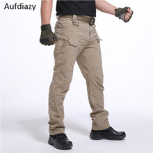 Aufdiazy Men's Tactical Cargo Military army fan Pants Outdoo