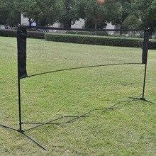 Портативная сетка для бадминтона, тенниса, для улицы, в помещении, нейлоновая плетеная спортивная сетка для тенниса, стандартный волейбольный сеточка для тренировок