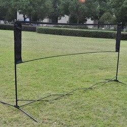 Exercice de formation de filet de volley-ball Standard de maille de filet de Tennis de sport tressé en Nylon d'intérieur extérieur de filet de Tennis de Badminton portatif