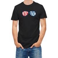 T-shirt New York City USA Glasses Men T Shirt Print Cotton Short Sleeve T-Shirt 100 % Cotton Tee Shirt for Boy Top Tees