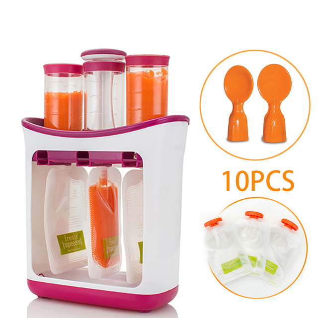 New Infant Baby Food Containers Storage Baby Feeding Maker Supplies Newborn Food Fruit Juice Maker child Food distributor kids