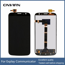 Good working Black Color For Explay Communicator LCD Display Touch Screen Panel Digitizer Assembly Replacement with assuring