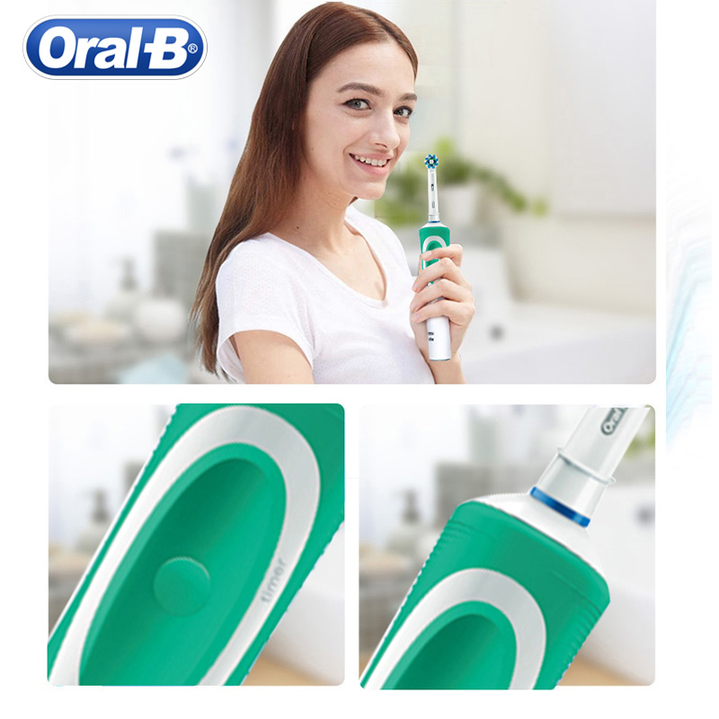 Oral B D12 Vitality Electric Toothbrush Rechargeable Cross Action Precision Daily Clean Oral Tooth Brush Head