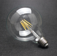 Free Shipping Dimmable G125 4W/6W/8W Incandescent Vintage Bulb E27 Globe Retro Edison Light Bulb 220 Decoration Style For Home