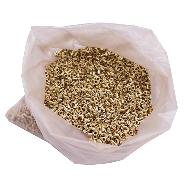 ABOUT 12100 pcs Bee Hives Installation Thread Hole Copper Plated Material About 990g Net Weight Beekeeping Tools Copper Eyes