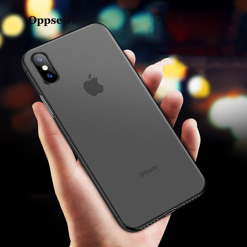 0 3MM Ultra Thin Hard PC Case On For iPhone X XS Max XR Phone Cover For iPhone XS X XR 8 7 6 6S Plus Protective Cases Capinhas in Fitted Cases from Cellphones Telecommunications