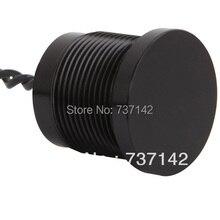ELEWIND Black aluminum anodized piezo push switch (19mm,PS193P10YBK1,Rohs,CE)