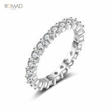Romad Rose Gold Silver Unique Design CZ Ring Paved Austrian Zircon Fashion Women Ring Engagement Wedding Band Jewelry W3 romad rose gold color double ring fashion ring set austrian crystal rings for women zircon ring wedding band jewelry z4