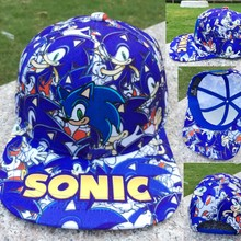 Anime Sonic the Hedgehog Cartoon Baseball Hat Adult Boys Girls Hip Hop  Adjustable Cotton Snapback Caps fbf67cb55dd9