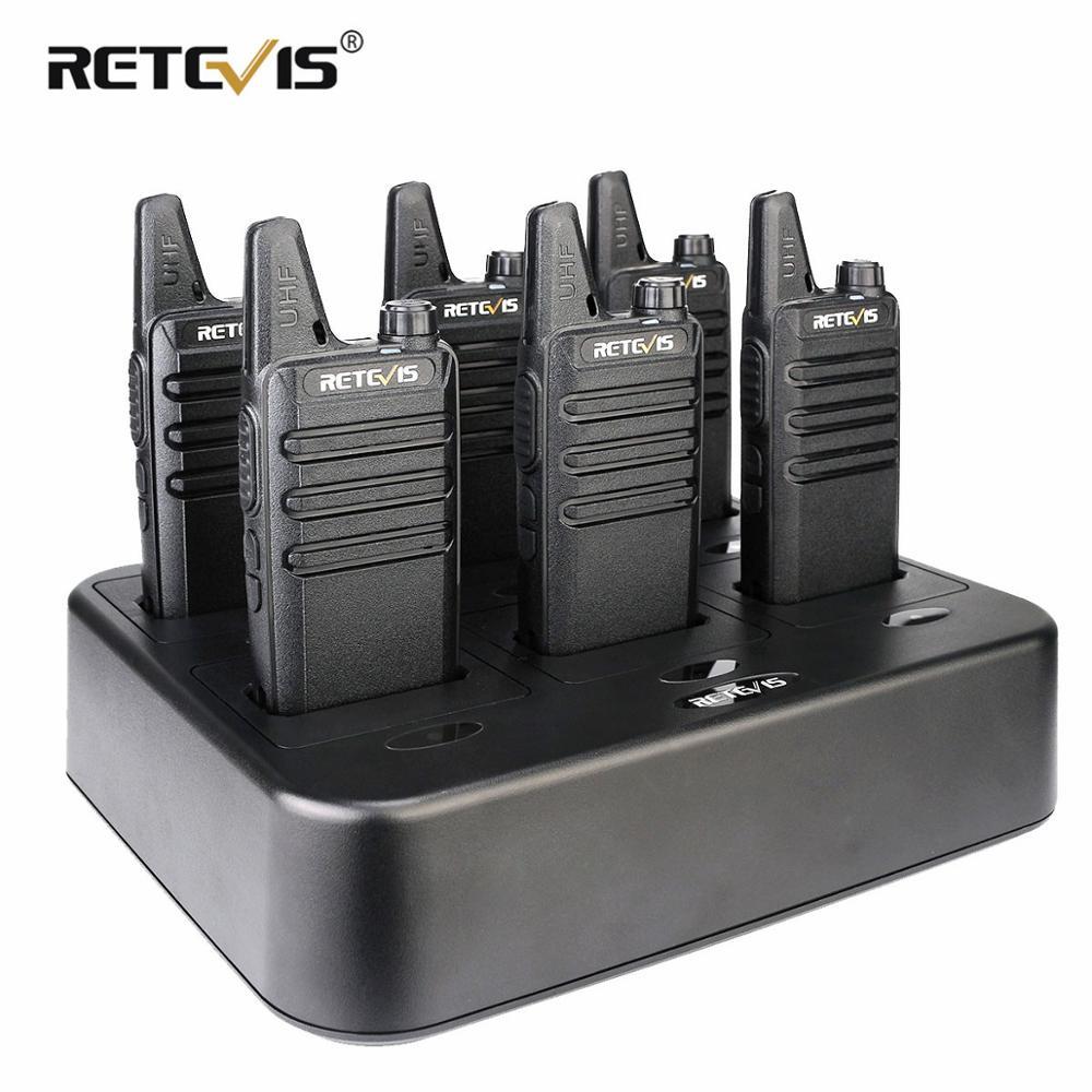 6pcs Retevis RT622 RT22 PMR Walkie Talkie PMR Radio PMR446 FRS VOX Portable Two Way Radio