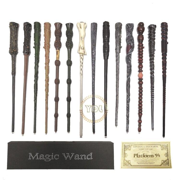 HP Levou iluminação Hermione Ron Sirius Voldemort Dumbledore Hermione Mágico Wand COS Bilhete de Comboio de truques de mágica de brinquedos