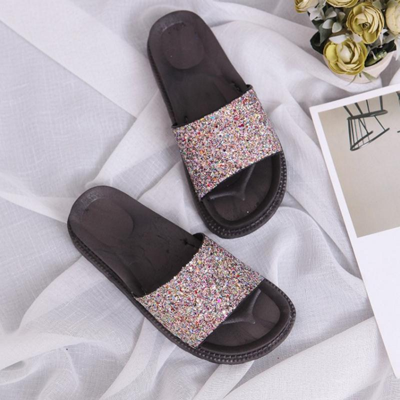 Women Wedge Sandals Fashion Slippers Peep Toe Sandals Trifle Stylish Shoes  Women Heels Leisure Glitter Daily Footwear Size 35 40-in Women s Sandals  from ... 452899466acd