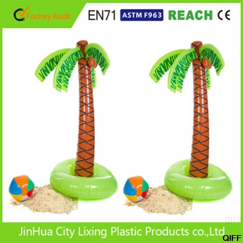 Drop Ship&Wholesale 90cm Inflatable Tropical Palm Tree Pool Beach Party Decor Toy Outdoor Supplies May06