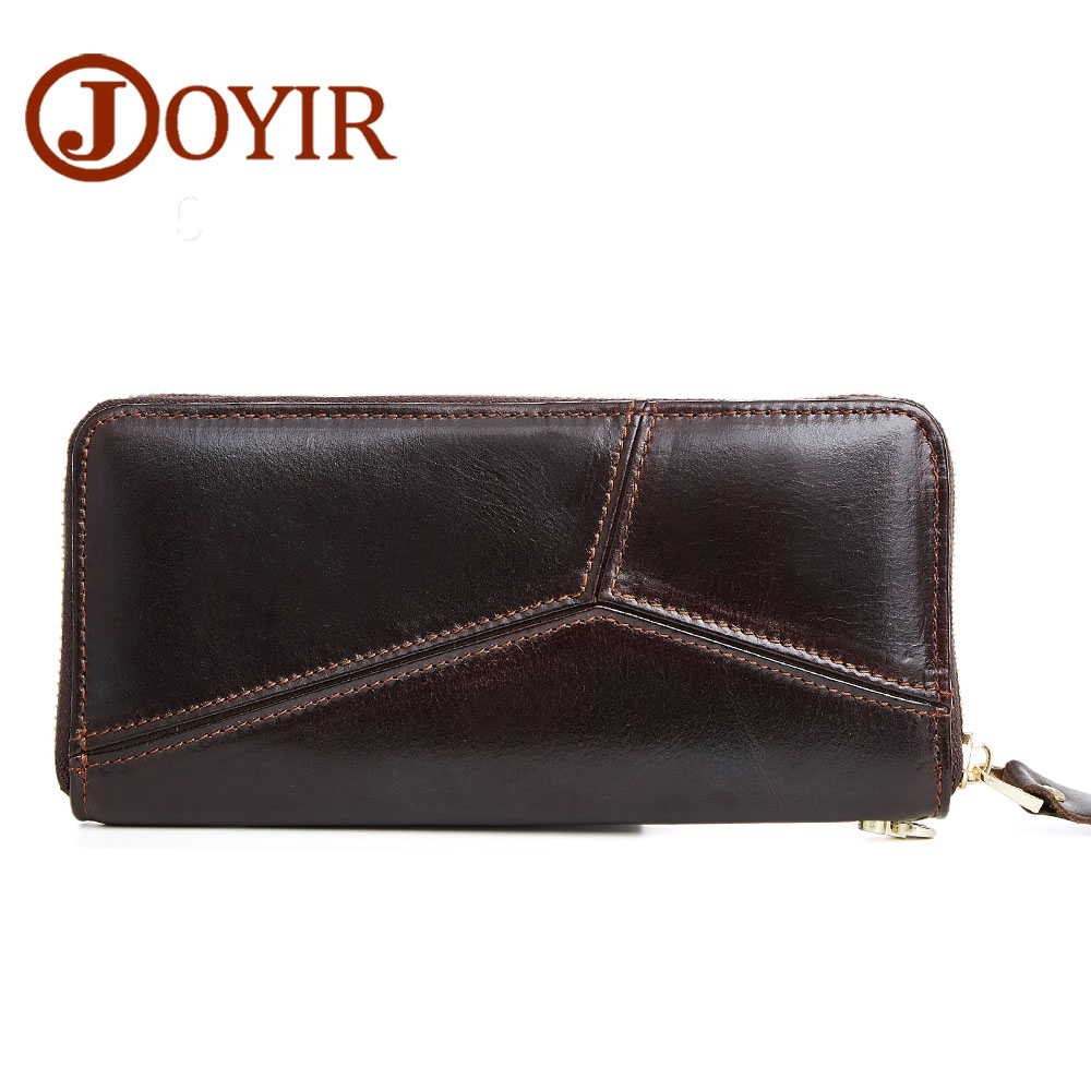 JOYIR Genuine Leather Men Long Wallet Mens Carteira Clutch Coin Purse Credit Card Holder Money Wallets Purse Zipper for Man 2017 2016 sale special offer carteira feminina carteras mujer mens wallet men driving license genuine leather wallets purse clutch